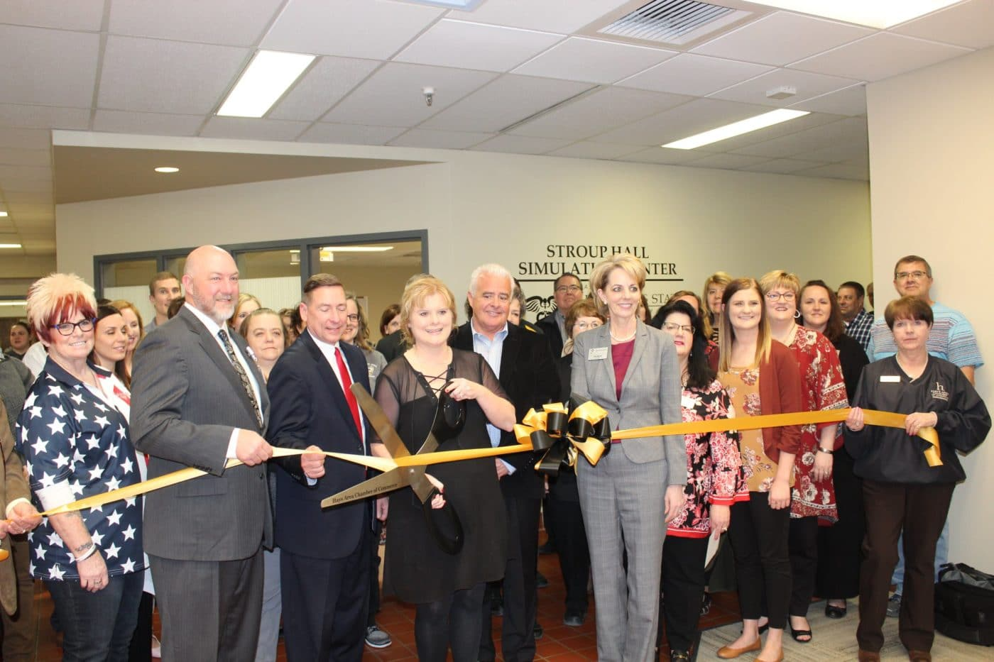 Simulation Lab Ribbon Cutting