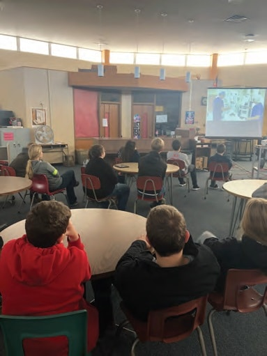 Courtesy Photo | Students at Logan Junior-Senior High watch the live demonstration. Logan, Kans. is also home to the Dane G. Hansen Foundation