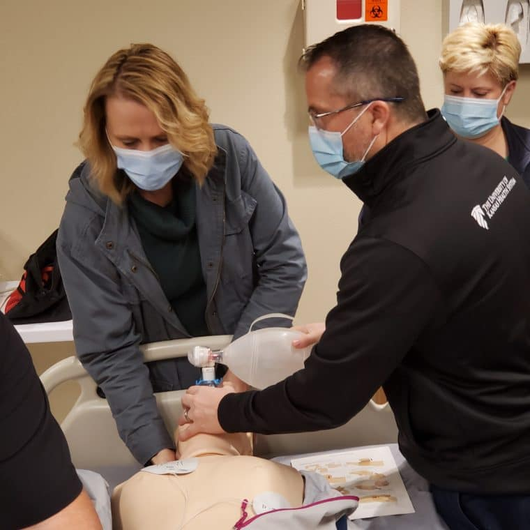 Mannequins are an essential training tool for students and staff.