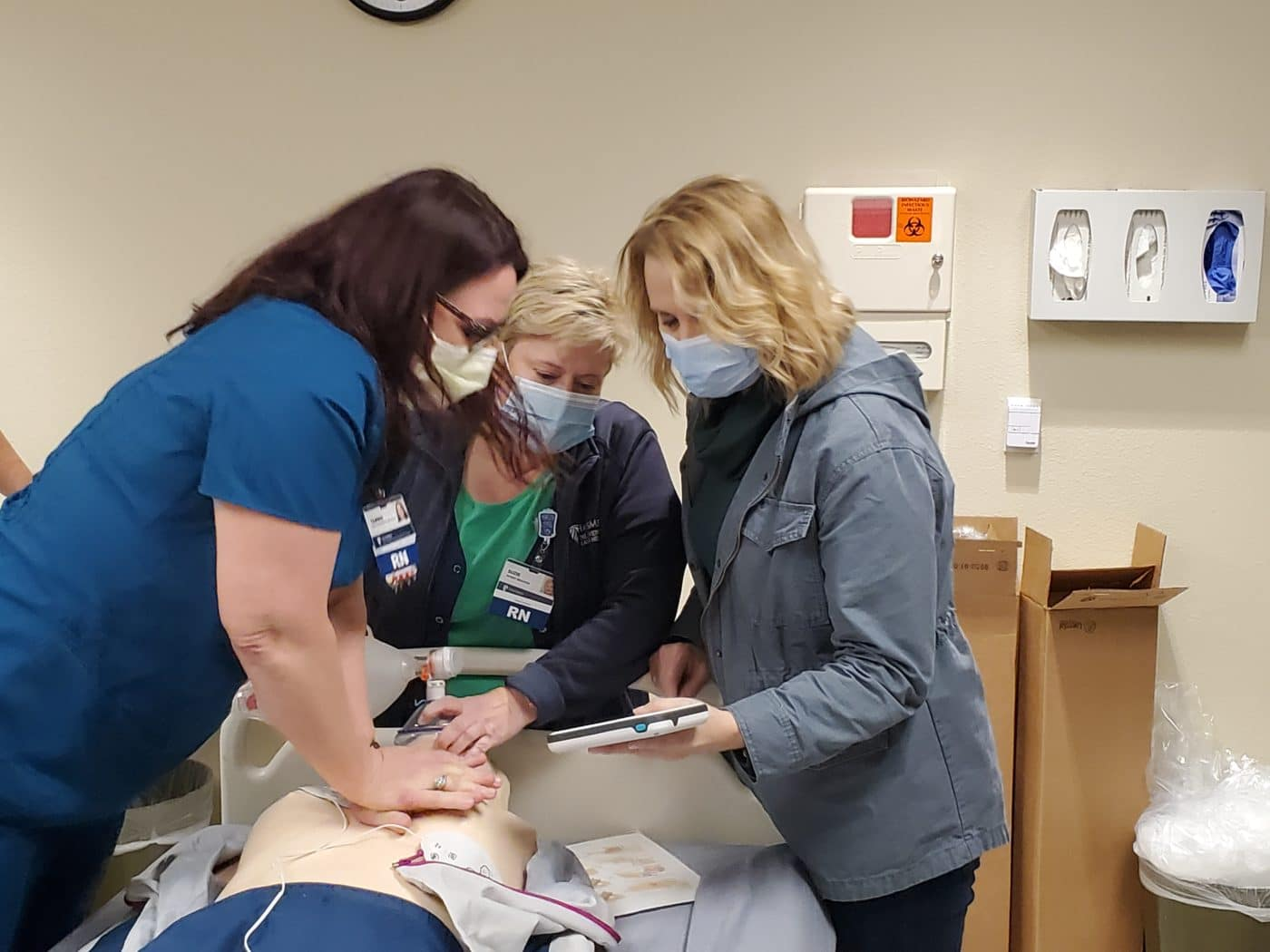 CPR Mannequins Added to Simulation Lab